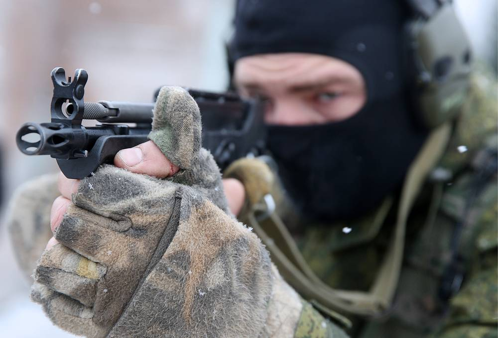 Interpolitex special arms show intended to promote special machinery on the foreign market was staged at a firing range in Moscow regional town of Krasnoarmeisk