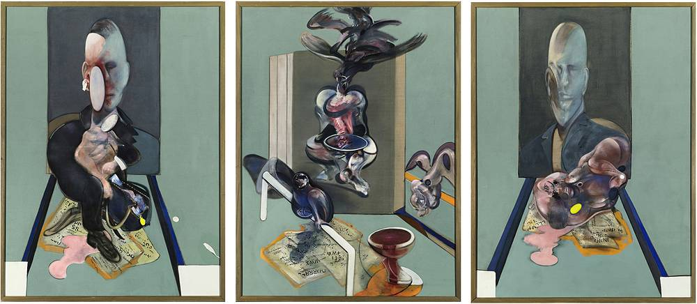 """Francis Bacon's painting """"Triptych, 1976"""" was bought for $86.2 million at Sotheby's auction by Russian billionaire Roman Abramovich in May 2008"""