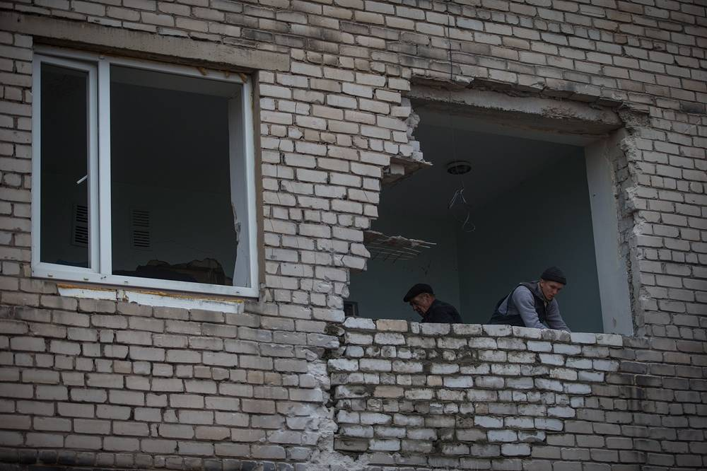 According to the United Nations, 4132 people have been killed and 9747 wounded since the start of the conflict. Photo: Pervomaisk maternity hospital after the shelling, 15 November 2014