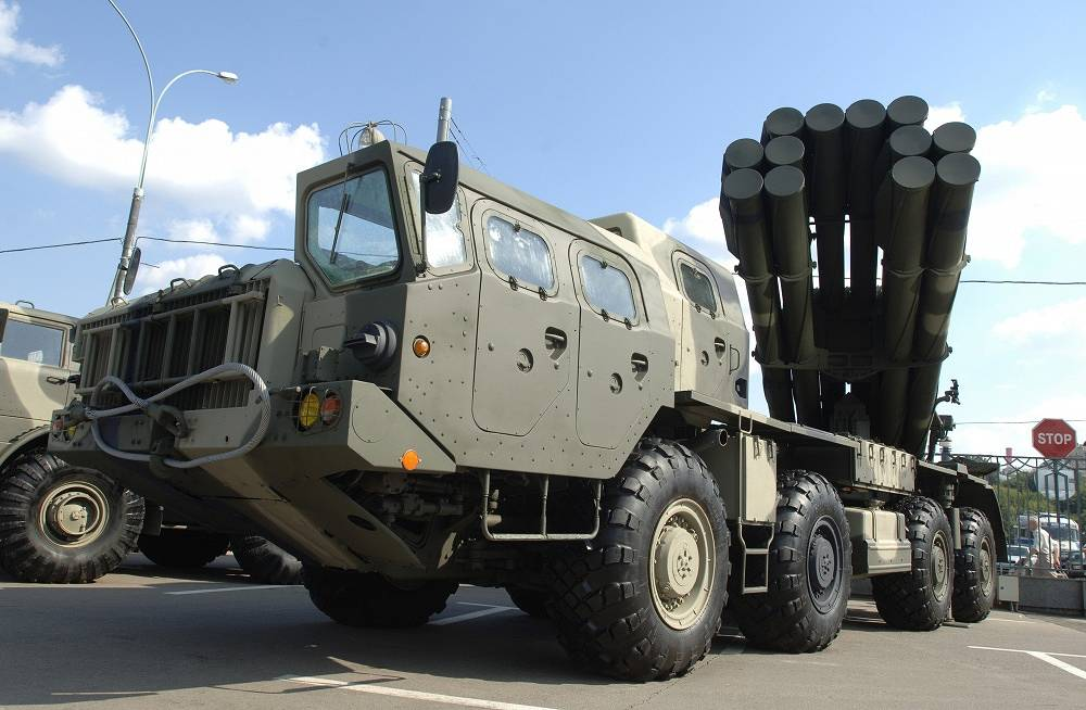 BM-30 Smerch is a heavy multiple rocket launcher, designed to defeat personnel, armored, and soft-skinned targets in concentration areas, artillery batteries, command posts and ammunition depots. The 300mm rockets with a firing range of 70 and 90 km and various warheads have been developed for the rocket launcher