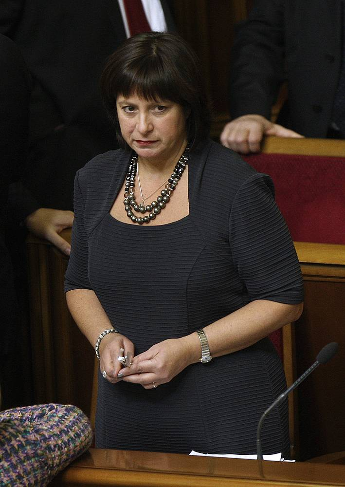 Ukraine's newly appointed finance minister Natalya Yaresko