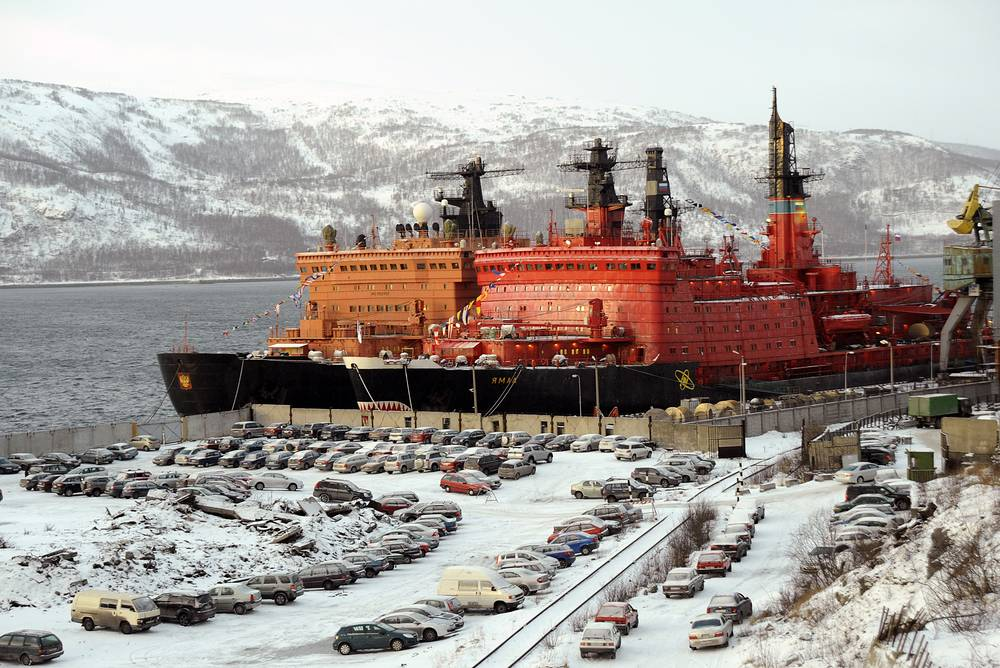 Photo: 50 Let Pobedy and Yamal icebreakers at the port in Murmansk