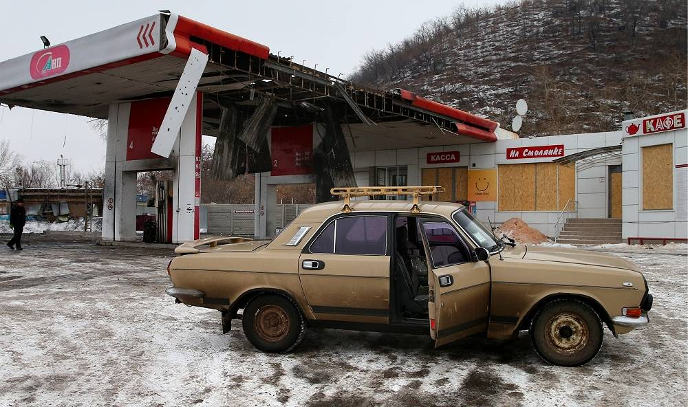 About a third of gas stations are working in the city of Donetsk