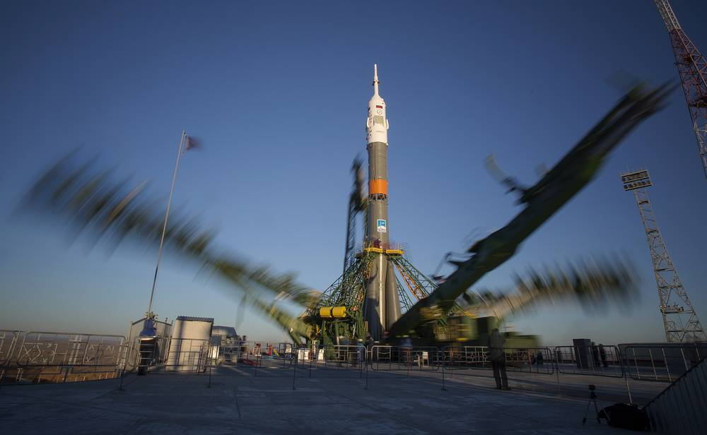 Soyuz vehicles are also used to launch unmanned Progress supply spacecraft to the International Space Station and for commercial launches. Photo: Soyuz-FG booster rocket with the space capsule Soyuz TMA-15M