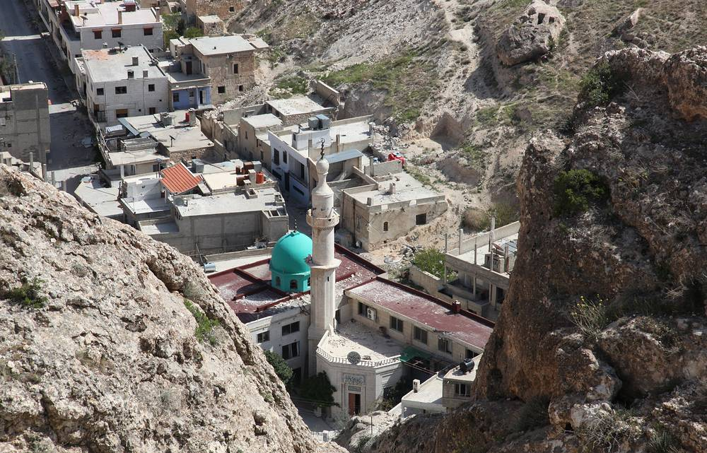General view of the village Maaloula north of Damascus