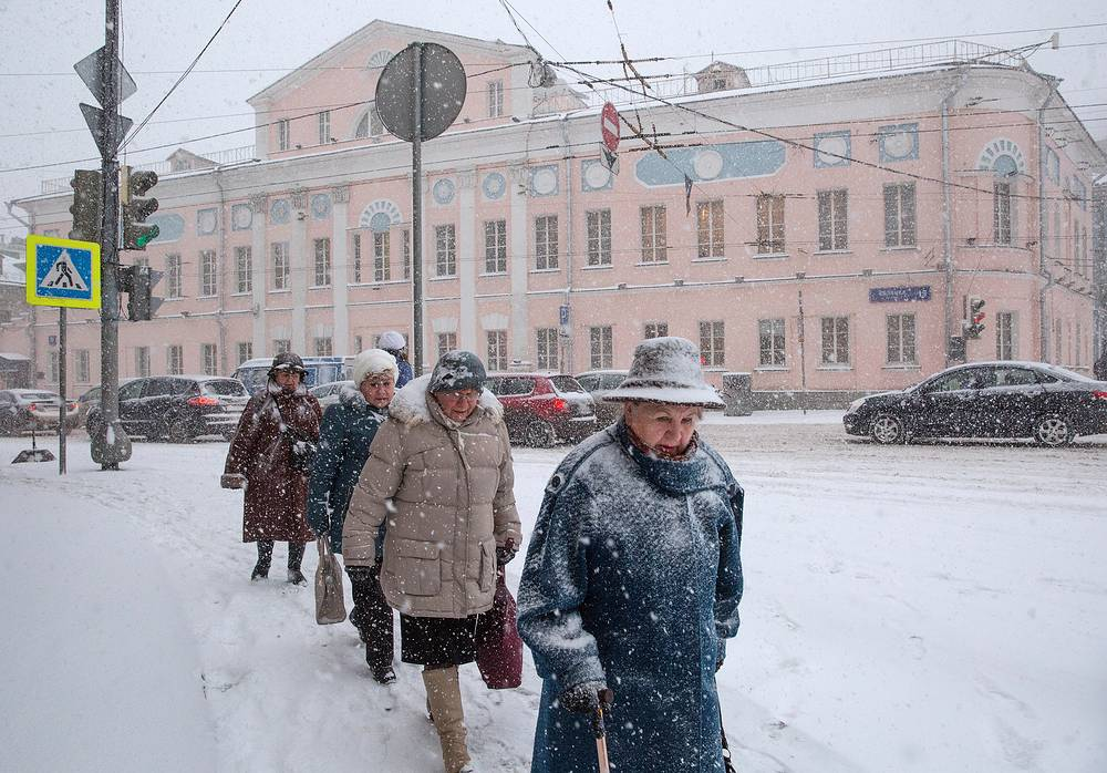 Photo: Local residents on the streets of Moscow