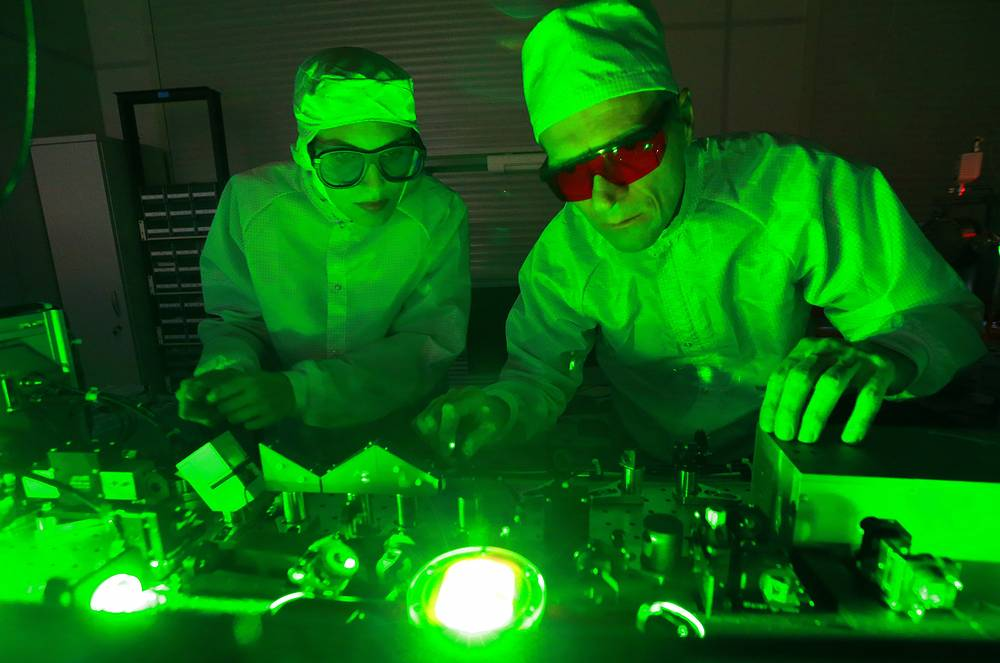 A laser laboratory at the Nizhny Novgorod University