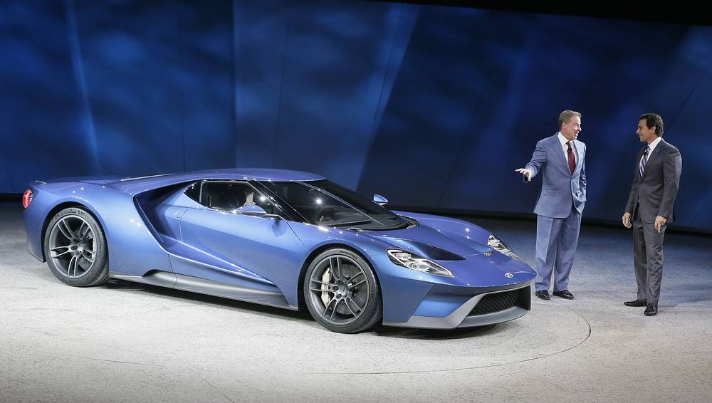 New Ford GT on display at the North American International Auto Show in Detroit