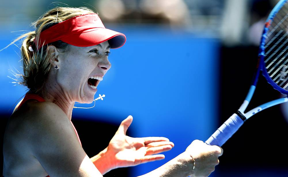 Maria Sharapova won the Australian Open title only once in 2008