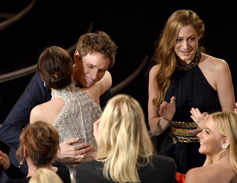 """Eddie Redmayne won the award for best actor in a leading role for """"The Theory of Everything"""" at the Oscars on February 22, 2015"""