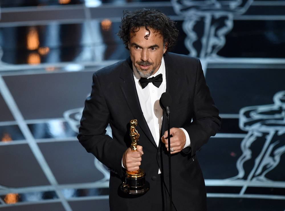 "Alejandro G. Inarritu won the Oscar for best director for ""Birdman"""