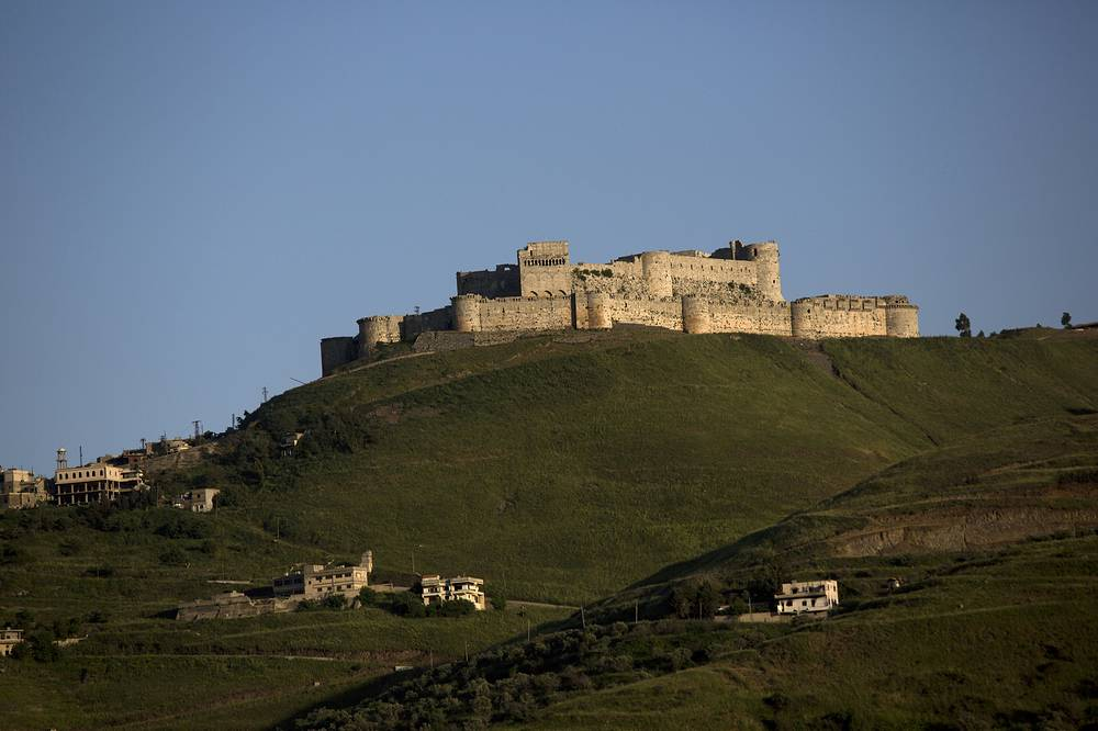 Crac des Chevaliers, the world's best preserved medieval Crusader castle was shelled in August 2012. Photo: General view of Crac des Chevaliers in Syria