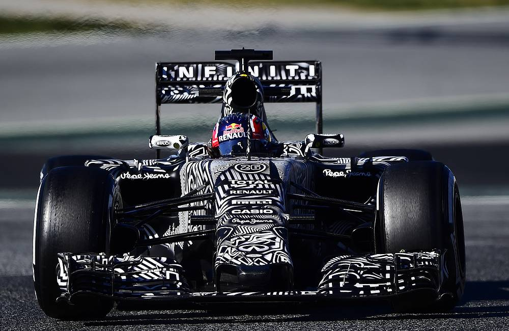 At the pre-season tests Red Bull team performed in camouflage coloration in order to hide certain technical elements from competitors