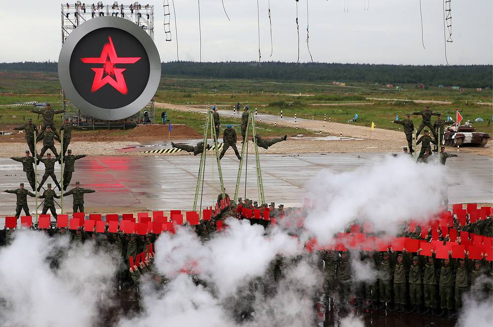 Opening ceremony of the 2015 International Army Games at Alabino testing range in Moscow region