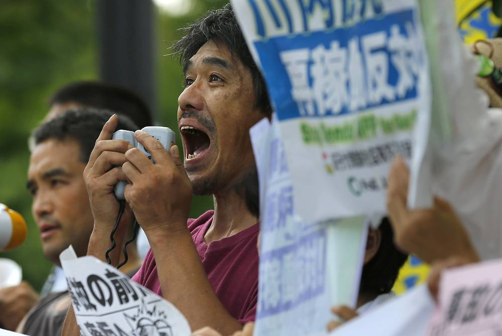 The restart marks Japan's return to nuclear energy four-and-half-years after the 2011 meltdowns at the Fukushima Dai-ichi nuclear power plant in northeastern Japan following an earthquake and tsunami. Photo: Anti-nuclear rally in front of Prime Minister's official residence in Tokyo, Aug. 11, 2015