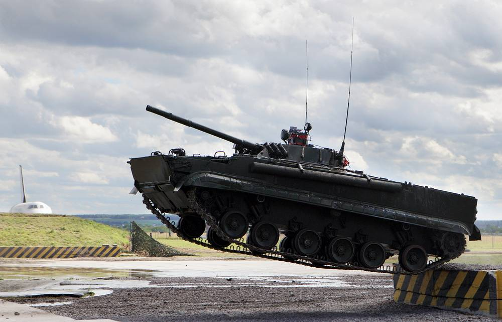 BMP-3 amphibious infantry fighting vehicle is one of the most heavily armed infantry combat vehicles in service