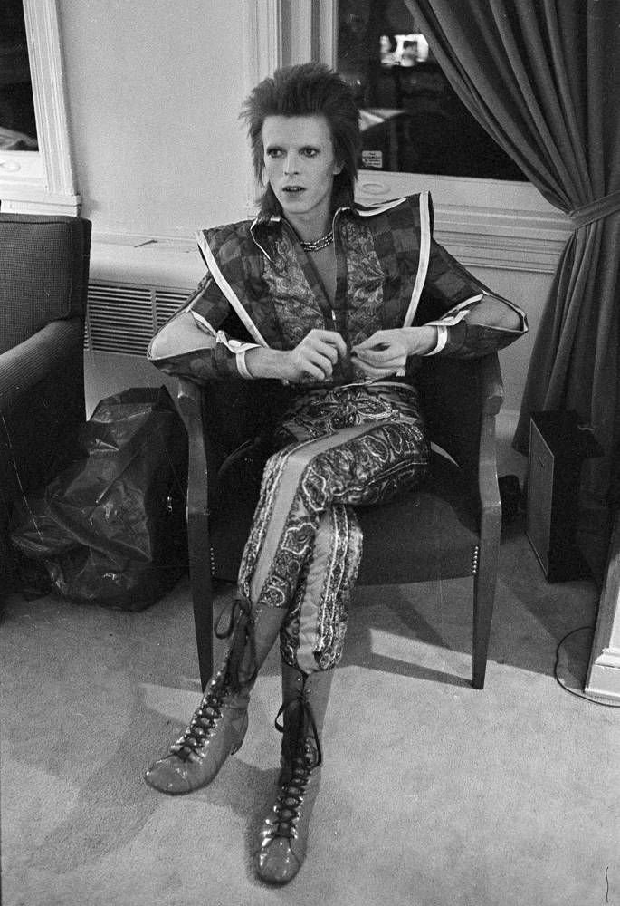 David Bowie in Philadelphia, US, 1972