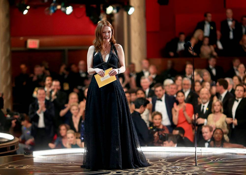 Actress Julianne Moore seen during the 88th Annual Academy Awards