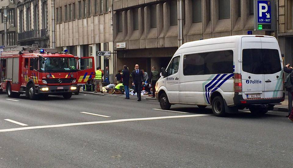 Two explosions occurred at Maelbeek and Schuman metro stations close to the EU institutions in Brussels