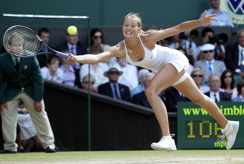 Russia's Maria Sharapova won the Wimbledon title in 2004