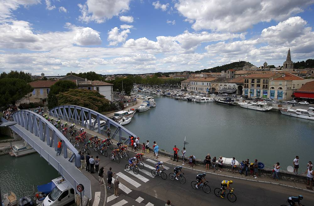 Twelfth stage of the Tour de France cycling race started in Montpellier and finished six kilometers before the Mont Ventoux, France