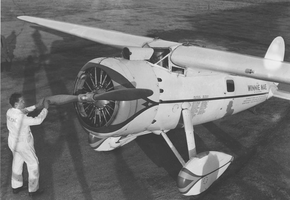 On 1 July 1931, pilot Wiley Post and navigator Harold Gatty completed their circumnavigation of the world in a Lockheed Vega aeroplane, Winnie Mae, in 8 days, 15 hours and 51 minutes