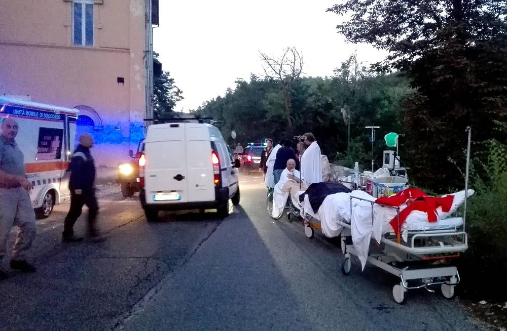 Hospital in the town of Amatrice