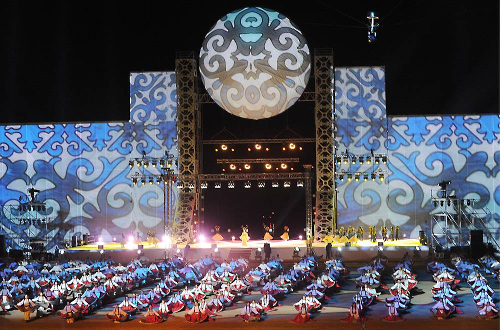 The opening ceremony of the 2016 World Nomad Games