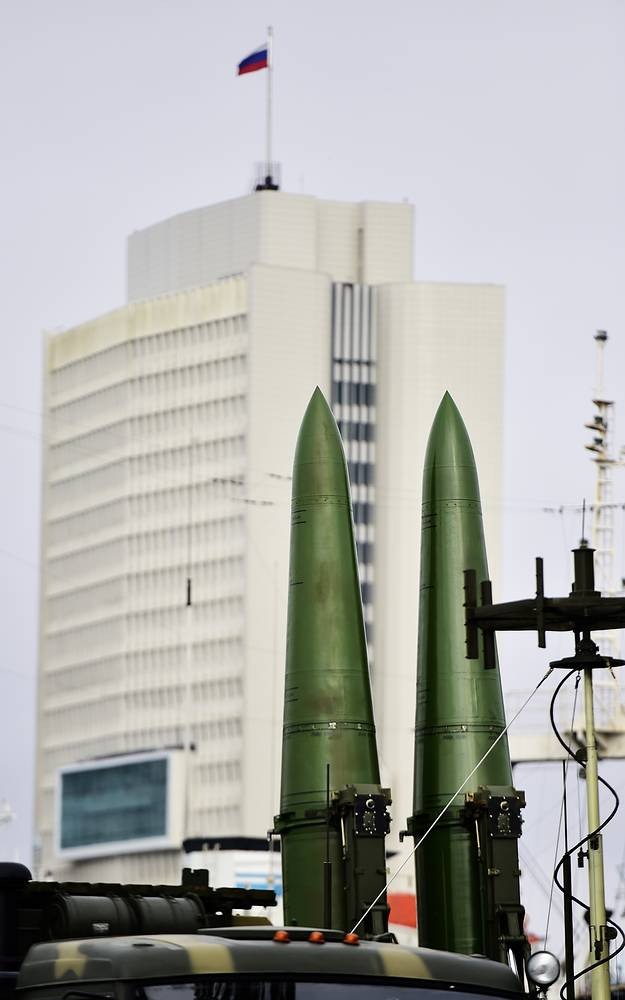 The Iskander-M tactical missile system.