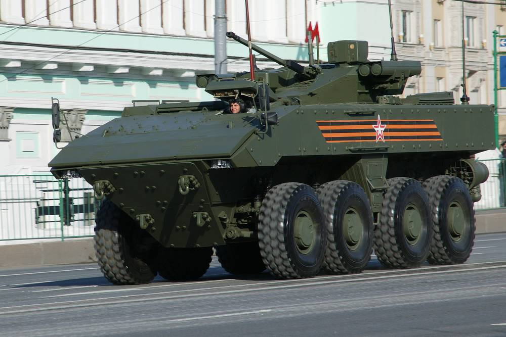 Armata-based Bumerang wheeled armored personnel carrier