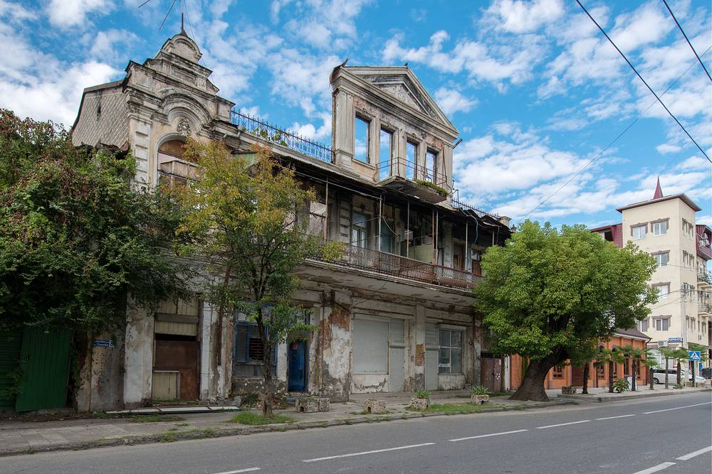 Ruins of an old building in Sukhumi, the capital of Abkhazia