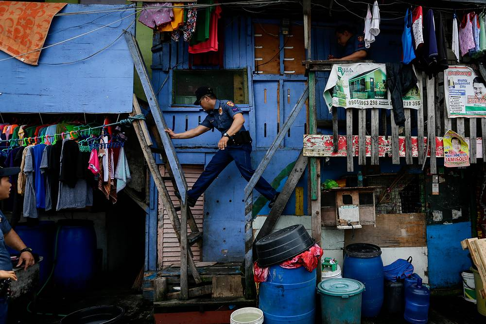 A police operation against illegal drugs in Manila, Philippines, October 6