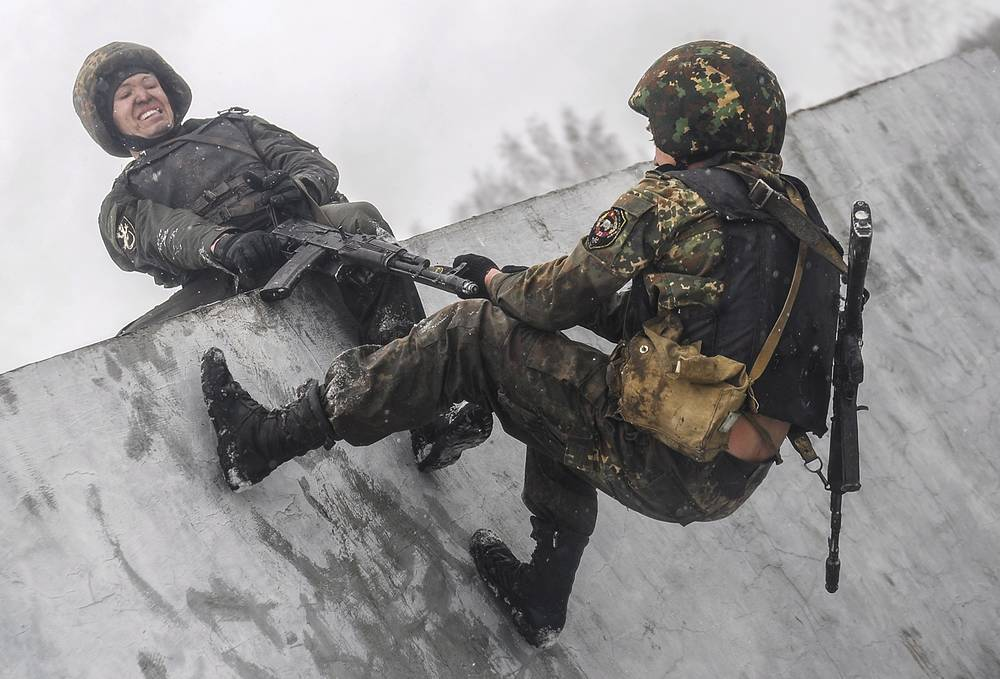Servicemen of the Special task forces of the Russian Interior Ministry's regional commands