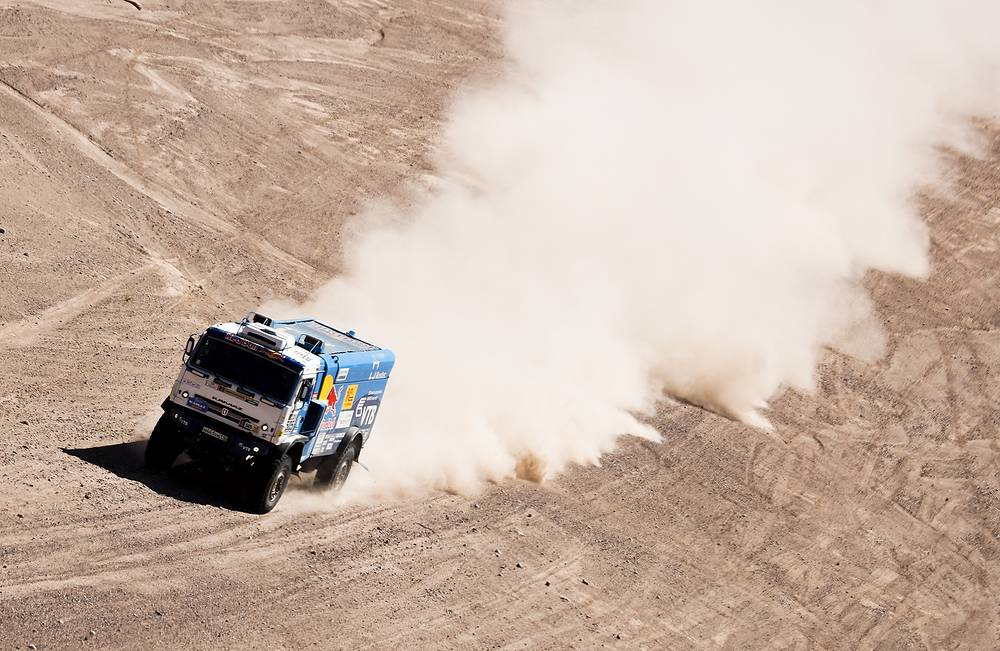 KAMAZ truck seen during the 10th stage of the Rally Dakar 2017 in between Chilecito and San Juan, Argentina, 2017