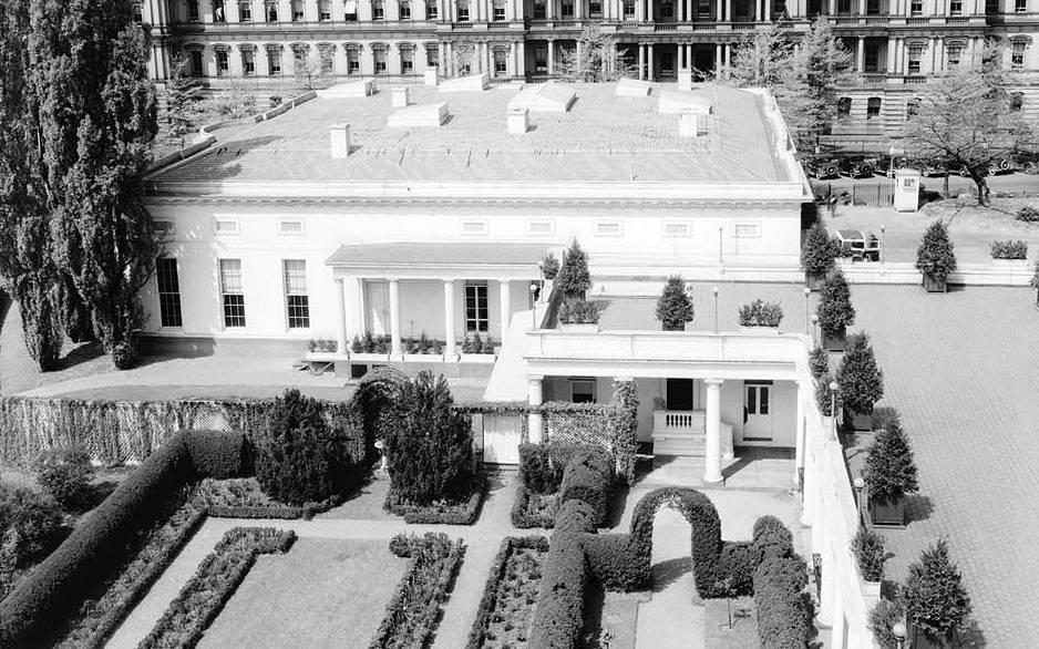 The West Wing was the idea of President Theodore Roosevelt' wife  Edith, who stated that the second floor of the White House, then shared between bedrooms and offices, should be just a domestic space. Photo: The West Wing of the White House