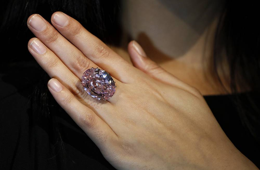 The Pink Star diamond, the most valuable cut diamond ever offered at auction, was sold for $83,2 mln in 2013