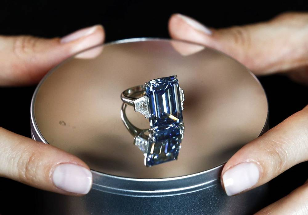 The Oppenheimer Blue, a 14.62-carat vivid blue diamond, became the most expensive jewel ever sold at auction on May 16, 2016. The gem was named after its previous owner, Sir Philip Oppenheimer, the grandson of Ernest Oppenheimer, who built De Beers global monopoly over the diamond industry. The Oppenheimer Blue mined by De Beers in South Africa fetched $58.8 mln at Christies in Geneva. The buyer's identity is unknown