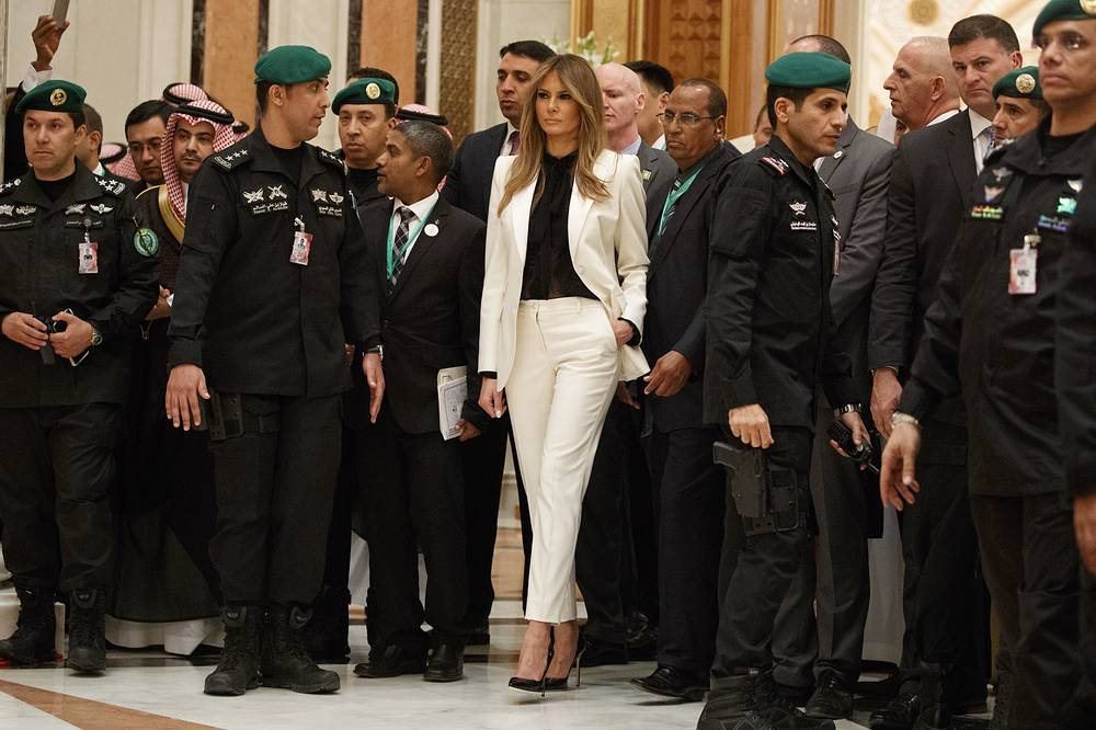 First Lady Melania Trump at the King Abdulaziz Conference Center, Riyadh