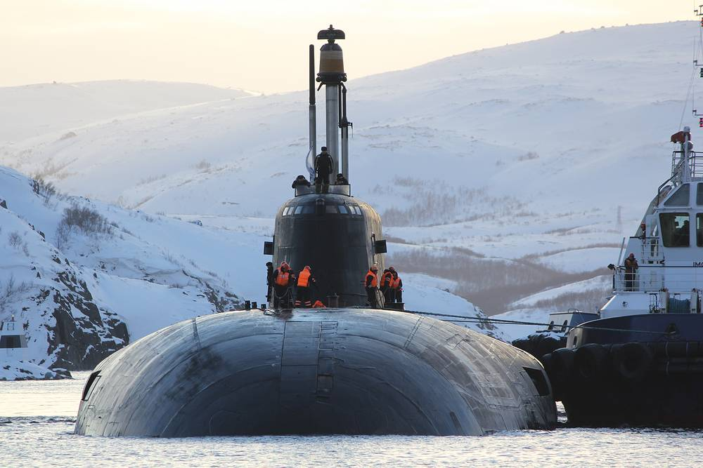 Project 949A Antey nuclear-powered cruise missile submarine Orel