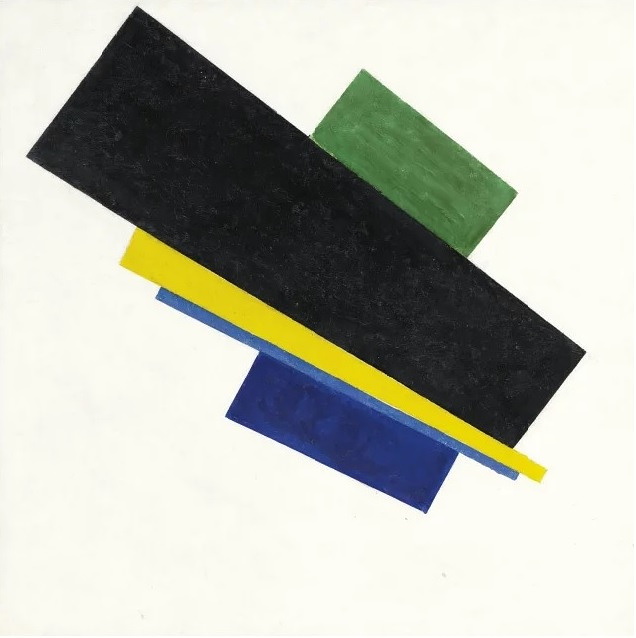 """Malevich's """"Suprematism, 18th Construction"""" (1915) was sold for $33,8 million in 2015"""