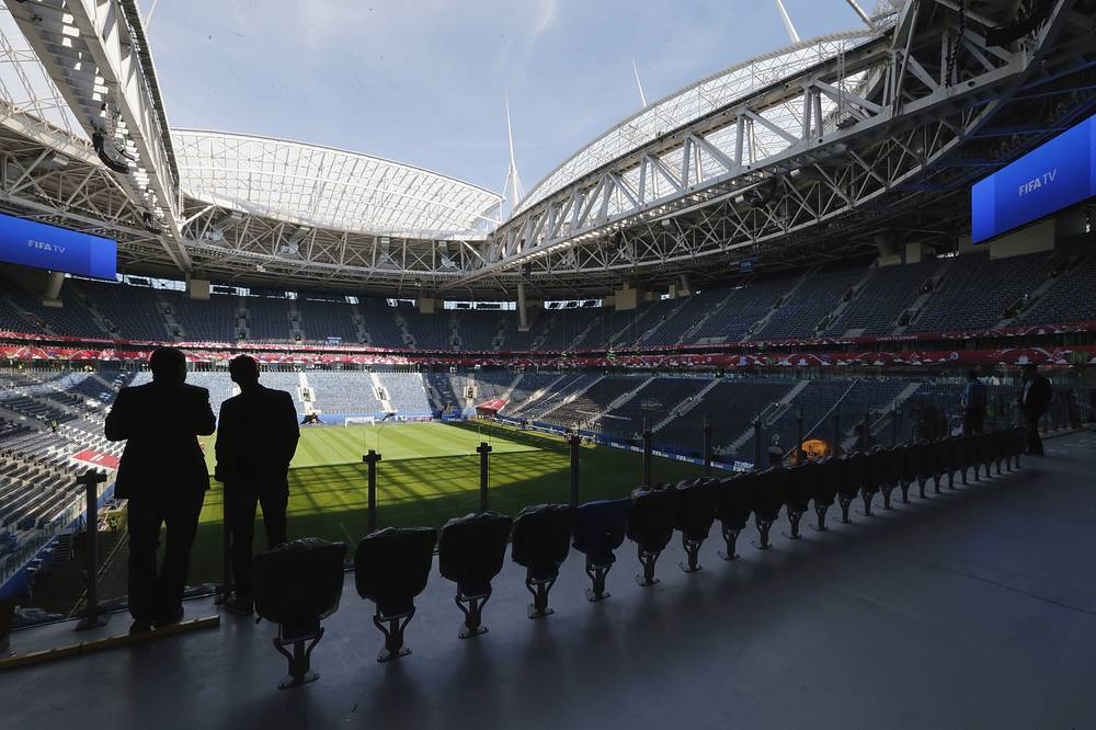 Saint-Petersburg Arena at the Krestovsky Island in St. Petersburg, one of the 2017 Confederations Cup venues