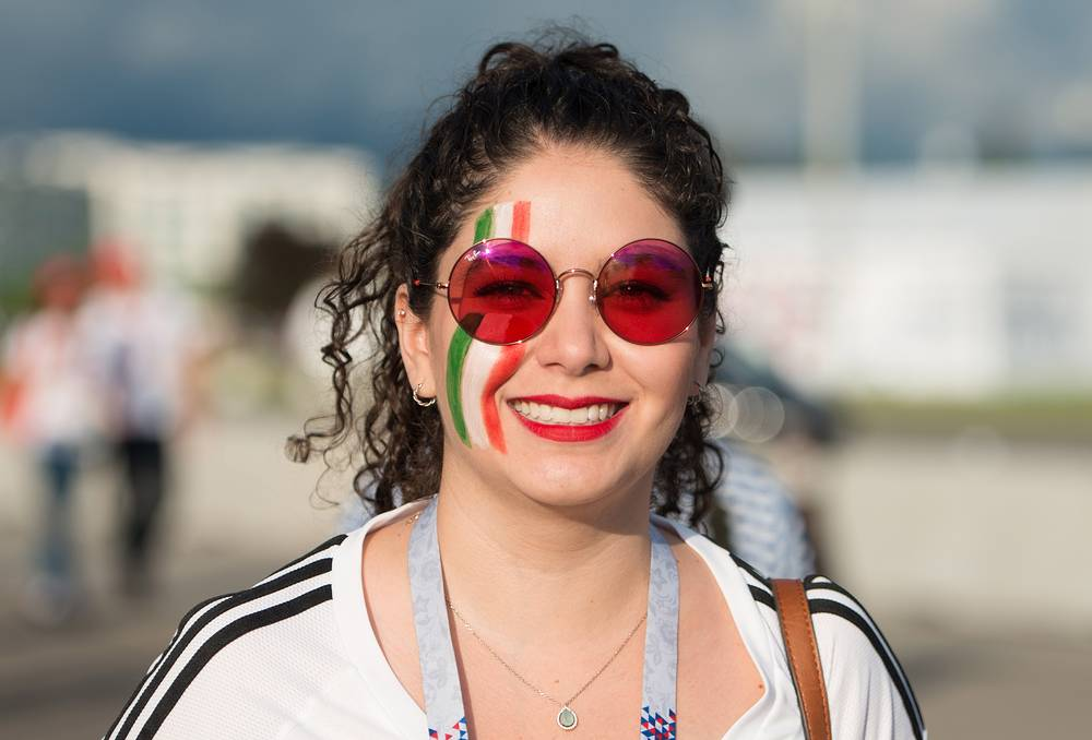 Mexico's fan by Fisht Stadium ahead of the 2017 FIFA Confederations Cup Group A match against New Zealand, in Sochi