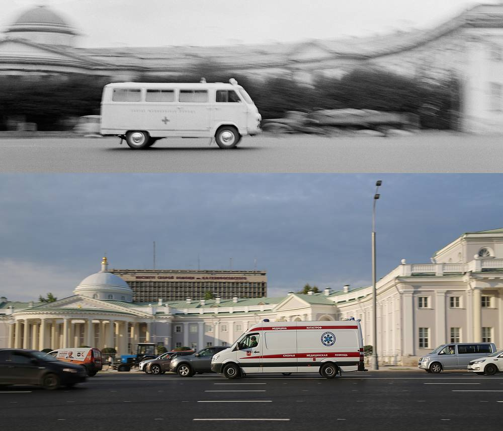 Above: An ambulance vehicle by the Sklifosovsky Reaserch Institute, 1970
