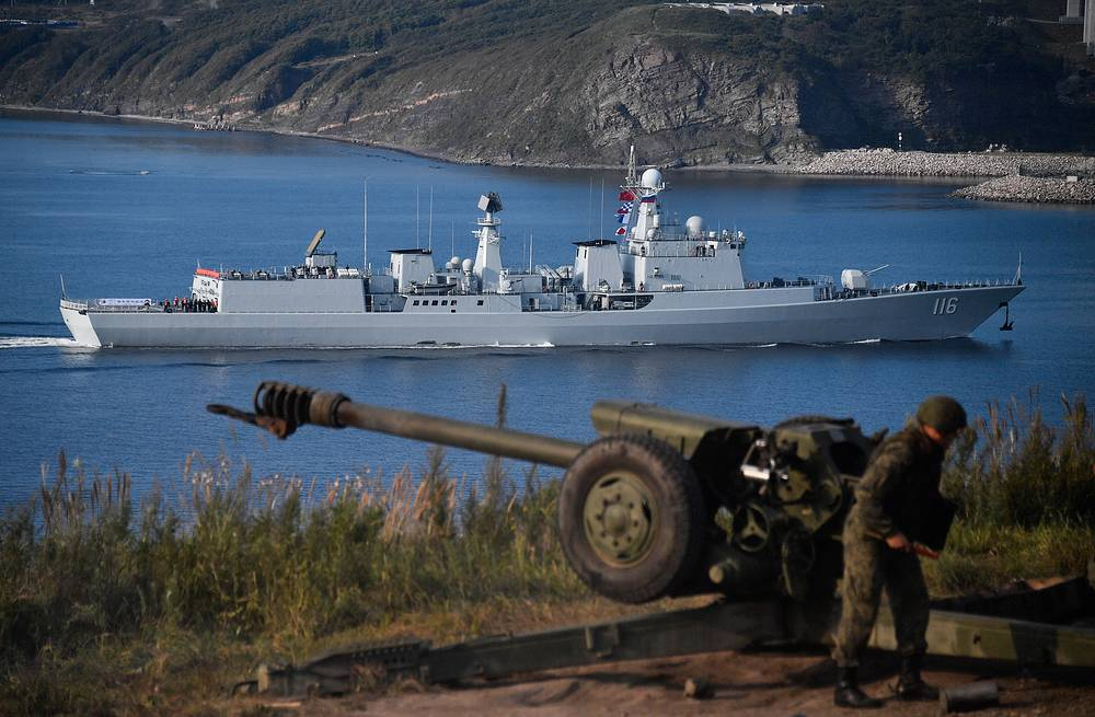The Shijiazhuang missile destroyer of the Chinese Navy arrived in Vladivostok for the second stage of  joint Russian-Chinese military exercise