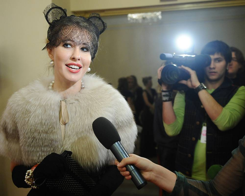 Ksenia Sobchak attends the Glamour Women of the Year awards ceremony, 2009