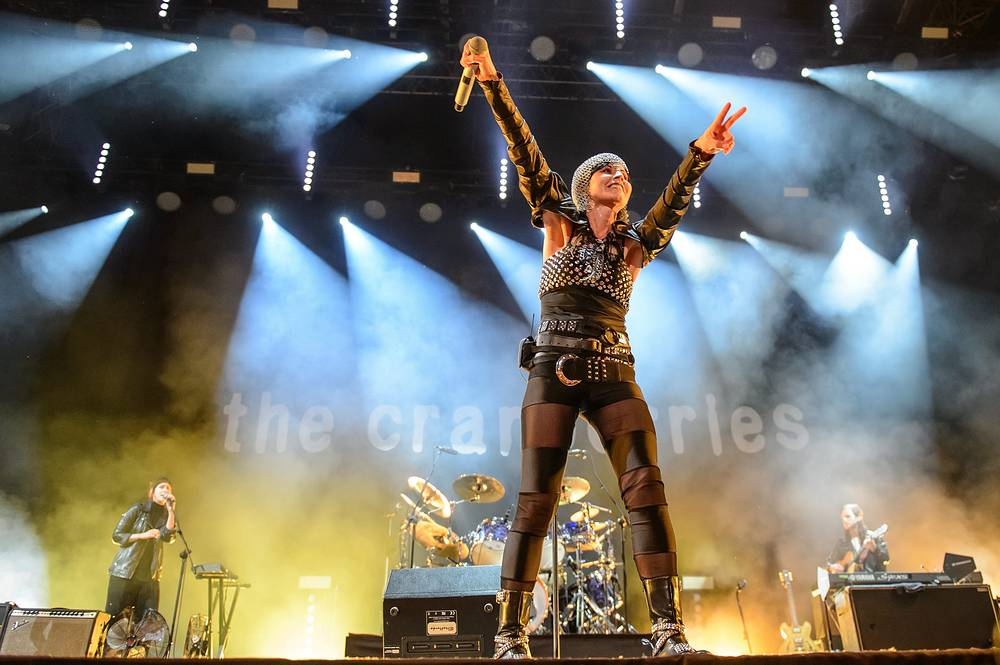 Dolores O'Riordan performs on stage during the concert in Lublin, Poland,  2016