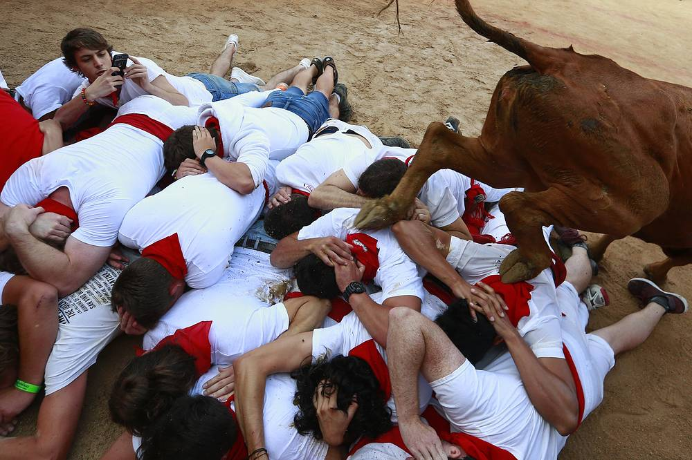 Revellers from around the world flock to Pamplona every year to take part in the eight days of the running of the bulls