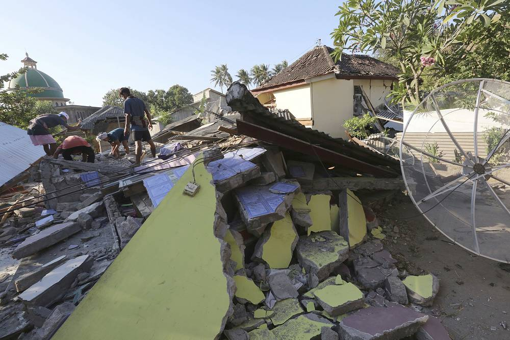 Indonesian authorities said that rescuers still haven't reached some devastated parts of the tourist island of Lombok