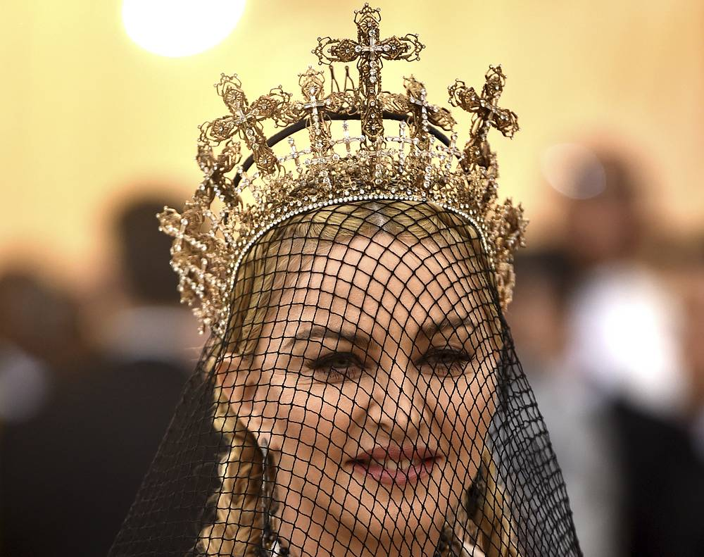 Madonna at the Metropolitan Museum of Art's Costume Institute benefit gala celebrating the opening of the Heavenly Bodies: Fashion and the Catholic Imagination exhibition, 2018