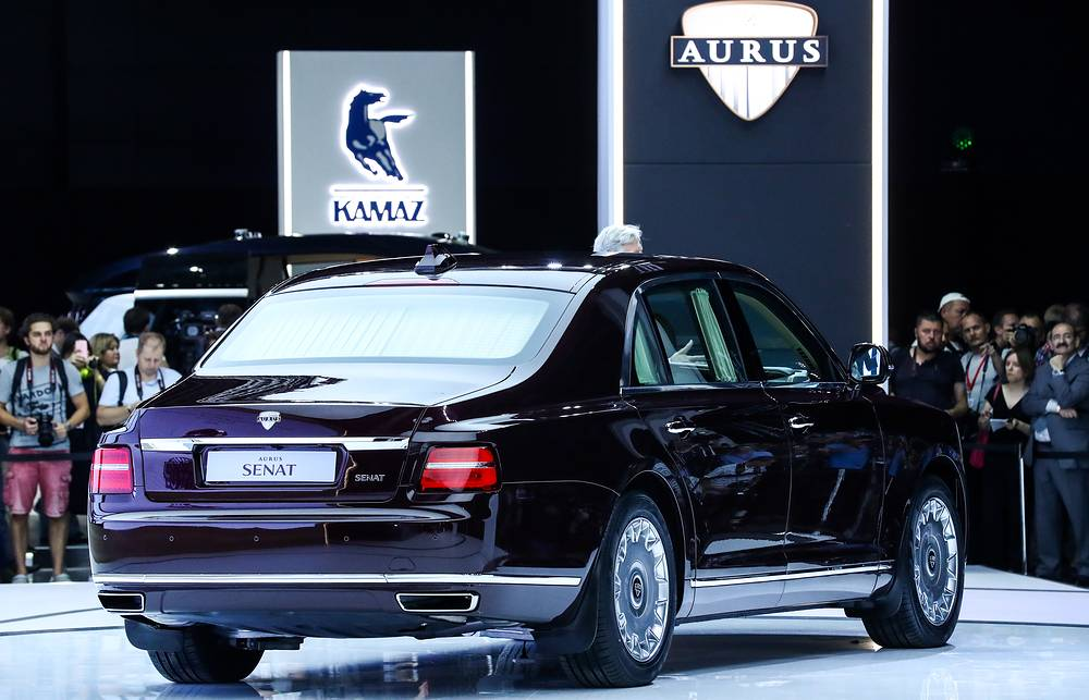 The Aurus Senat was designed by the Central Scientific Research Automobile and Automotive Engines Institute (NAMI) as part of the Cortege project